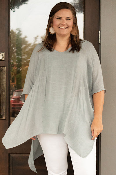 All Away Tunic in Silver