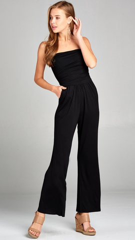 Simple Tube Jumpsuit in Black