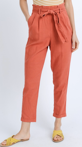 Carlie Hight Waist Rust Pants