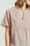 Barbara Stripes Top in Peach