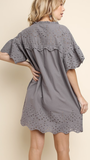 Aubree Dress in Cool Grey
