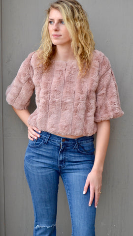 Amily Faux Fur Top