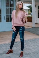 Miles Away Misty Rose Sweater Top