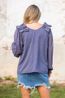 Don't Hide Your Love Top in Slate
