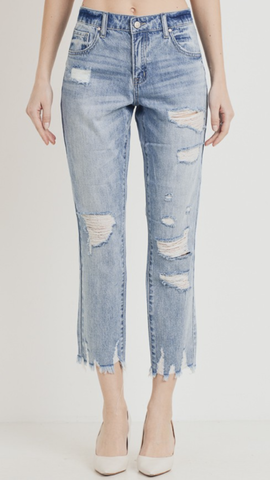 Straight Leg Girlfriend Jeans