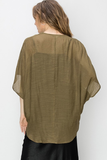 Caylee Crossover Top in Olive