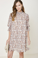 Margery Smock Neck Dress in Cream