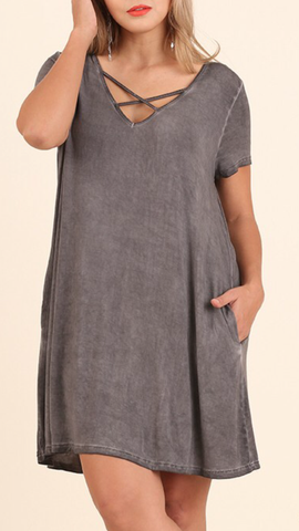 plus size mineral wash dress studio 3:19