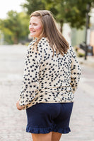 Star Print Fleece Pullover