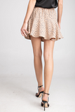 Dotted Mini Skort in Taupe