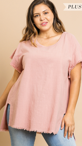 Lera Blush Top (XL-2X)