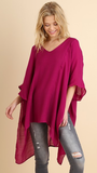All Away Tunic in Berry