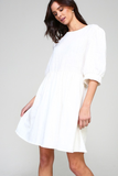 Karlee Babydoll Dress in Ivory