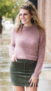 Elise Fuzzy Textured Top in Mauve