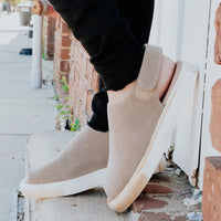 Neila in Taupe Suede by Chocolat Blu