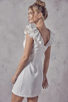 Alie Ruffle Dress in White
