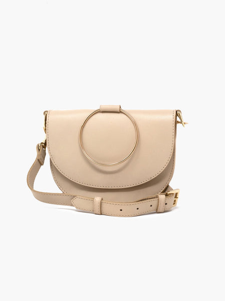 Fozi Slim Satchel in Bone