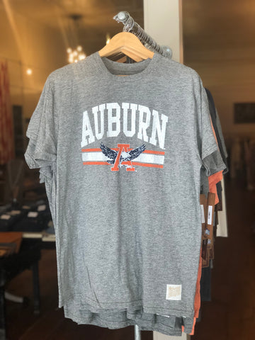 Auburn Vintage Tee by Retro Brand in Heather Grey