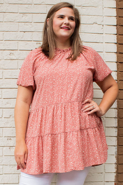 Bridget Smock Neck Top in Pink