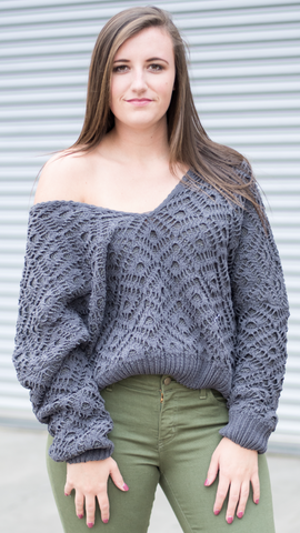 McKenzie Comfy Sweater in Charcoal