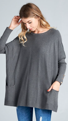 Parker Sweater in Charcoal