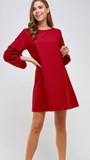 Amy Shift Dress in Red