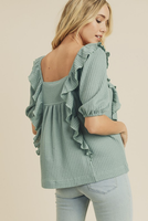 Louisa Top in Seafoam