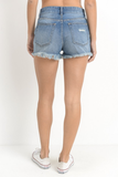 Frayed Bottom Demin Shorts