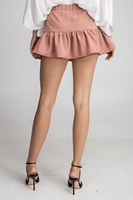 Magnolia Ruffle Skirt in Rose