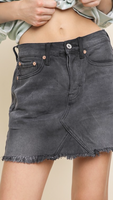 Kayla Black Denim Skirt