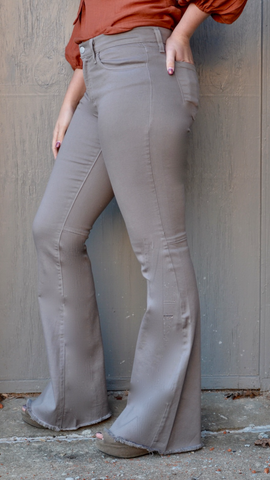 Flares in Mocha by O2 Denim