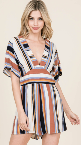 Emily Stripes Romper