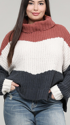 Craving Colorblock Sweater (XL-3X)