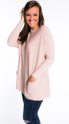 You Are Mine Sweater in Blush