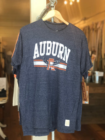 Auburn Vintage Tee by Retro Brand in  Navy