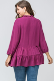 Paola Plum Top