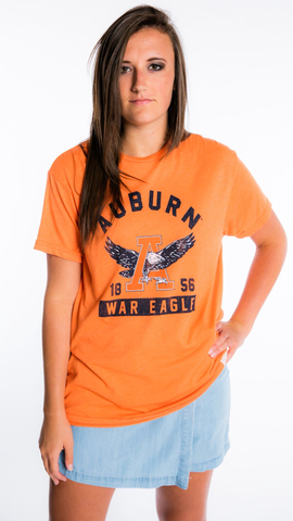Auburn Tigers Vintage War Eagle Tee in Heathered Orange by Retro Brand