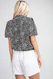Kaitlyn Print Top in Black/Wht