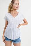 Angela Stripes Top in Blue Combo