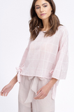 Shana Bell Sleeve Top in Blush