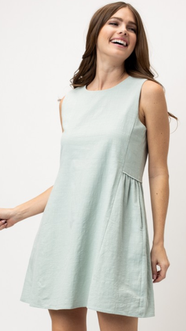 Marci Sleeveless Dress in Spring Sage