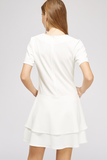 Macey White Ruffle Dress