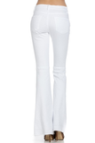 High Waist White Flare Jeans by O2 Denim