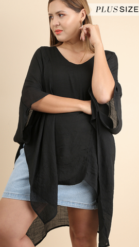 All Away Tunic in Black (XL/1X-1X/2X)