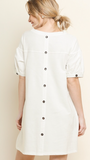 Back Button Tunic in Cream