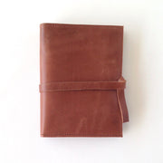 brown leather journal cover by karama studio 3:19