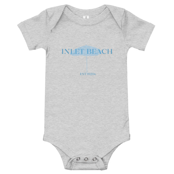 Baby Inlet Beach One-Piece Short Sleeve Blue Graphic