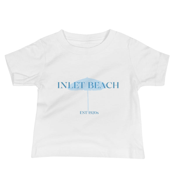 Baby Inlet Beach Jersey Short Sleeve Tee Blue Graphic