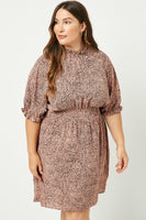 Darcie Dot Smock Neck Dress