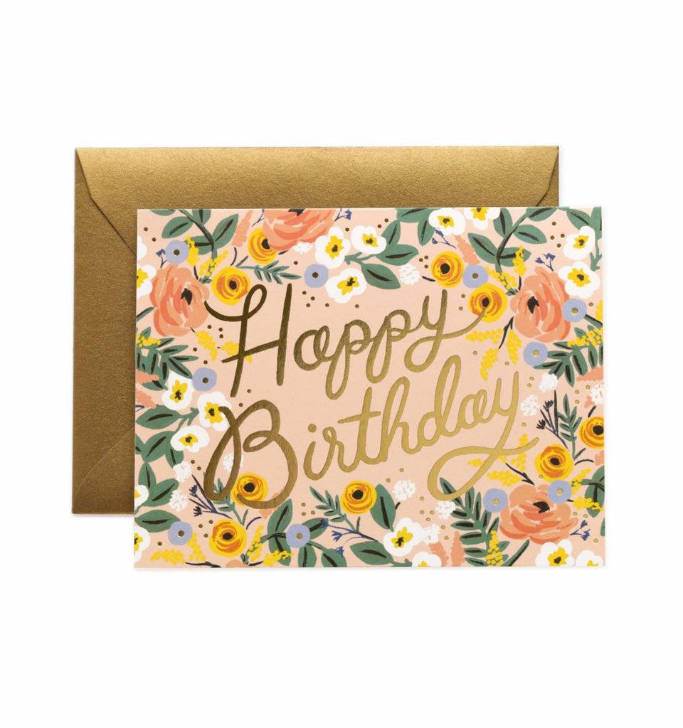 Rosé Birthday Greeting Card by Rifle Paper Co.